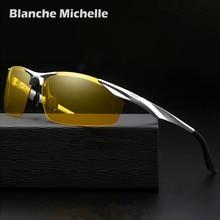 Super Light Aluminum Magnesium Frame Polarized Sunglasses Men Semi-Rimless Rectangle UV400 Mens Sun Glasses Night Vision Goggles