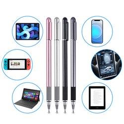 Uniwersalny 2 w 1 długopis Stylus ekran pojemnościowy dotykowy ołówek Tablet telefon komórkowy pióro do rysowania z przewodzącym dotykowym przyssawką na PC
