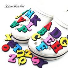 Обувь аксессуары один шт заглавные буквы обувь подвески украшения красочные обувь аксессуары для Croc Jibz Kids Party Xmas Gift