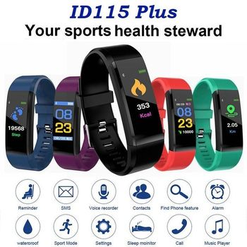 Portable Digital Watch Sport healthy Fitness Bracelet Waterproof Smart Band Heart Rate Monitor IP67 Smartch Bluetooth Passometer