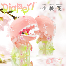 Box Toys Dinosaur Girl Little Peach Blossom Figure Anime PVC Figurine Doll Toy For Gift Collection Height 8cm