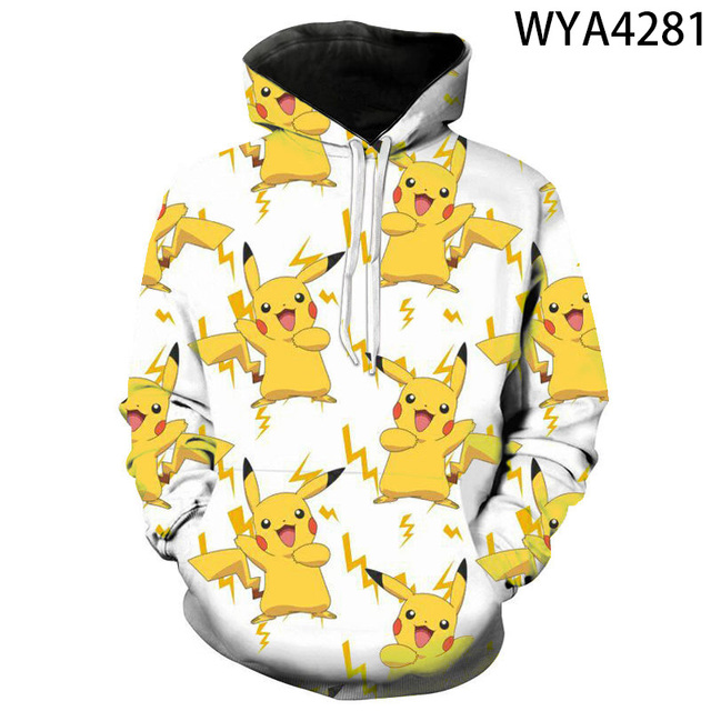 2020 new animated 3D printed hoodies men women children fashion hoodies pokemon boys girls kids sweatshirts street clothing 2