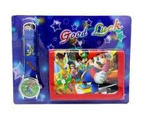 Super mario kids establicece relojy cartera monedero pulsera