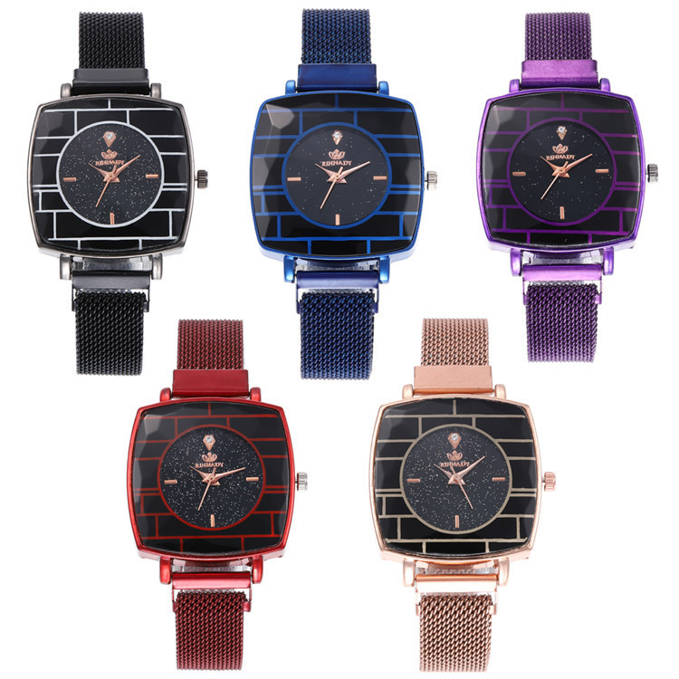 Milan Fashion Characteristics With Series Bracelet Watch Exquisite Square Dial Star Bracelet Watch Joker Fashion Watches