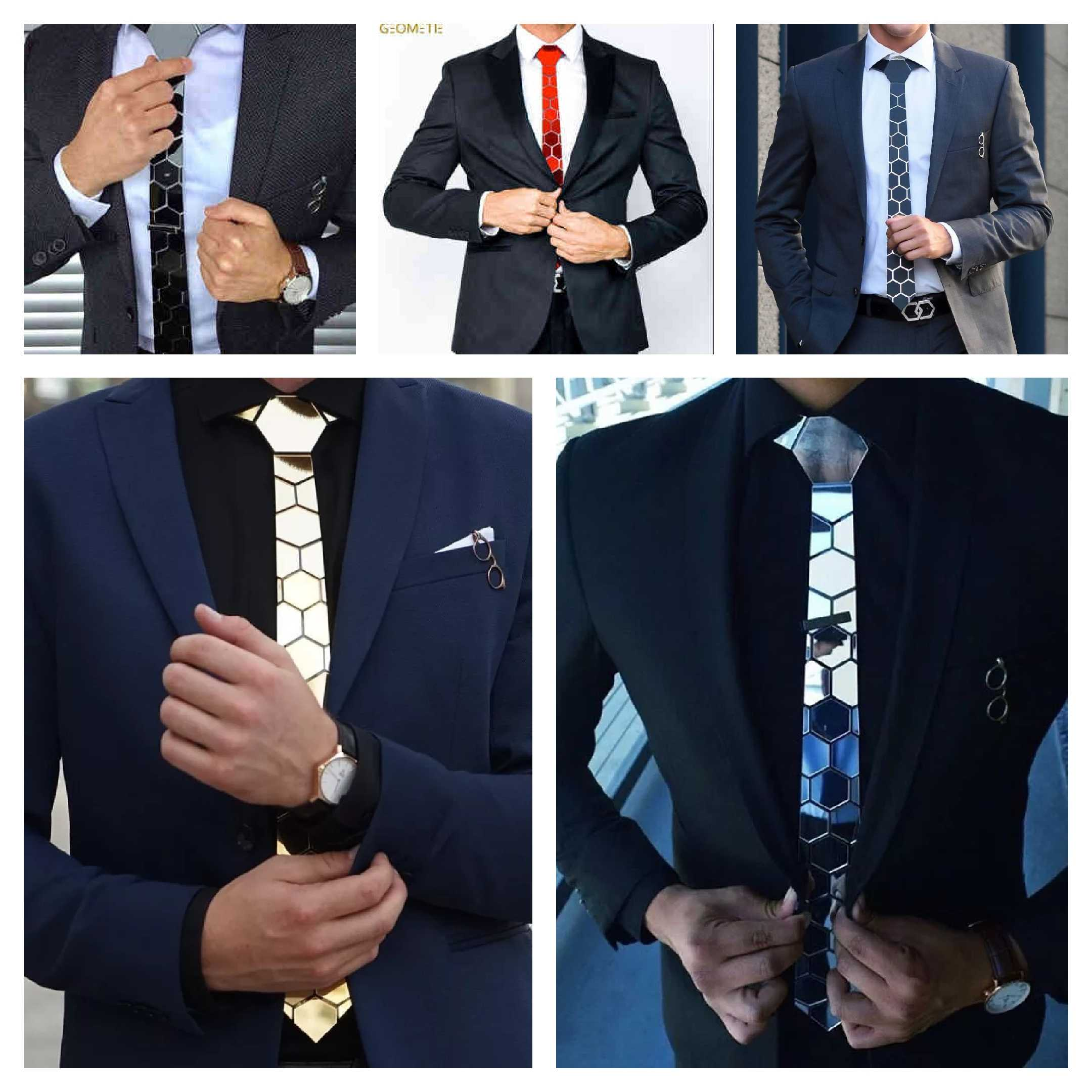 MENS BLACK LIKE HEX TIE UNIQUE SHIPS FROM U.S.