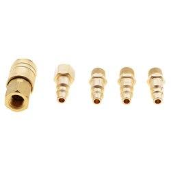 5 linha de mangueira de ar dos pces adaptador de acoplador rápido 1/4 npt encaixe compressor