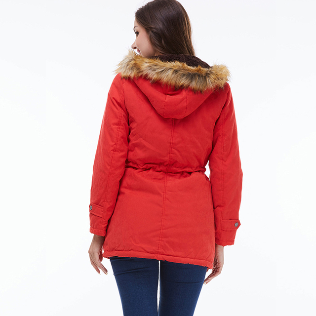 Ailegogo 2021 New Parkas Women Winter Coat Thickening Cotton Winter Jacket Womens Outwear Parkas For Female 6