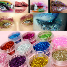 Face Glitter Sequins Highlighter Makeup Eyeshadow Nail Laser Colorful Body Eye Face Glitter for Face Party Festival Decoration
