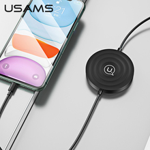 USAMS 3 in 1 Wireless Charger 10W Fast Qi Wireless Charger With Lightning Cable for Airpods iPhone 11 X XS XR iWatch S1 S2 S3 S4