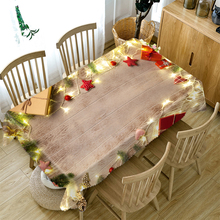 Christmas-Tablecloth Rectangular/round And 3d Towel Wood-Grain-Light-Post Bell-Pattern