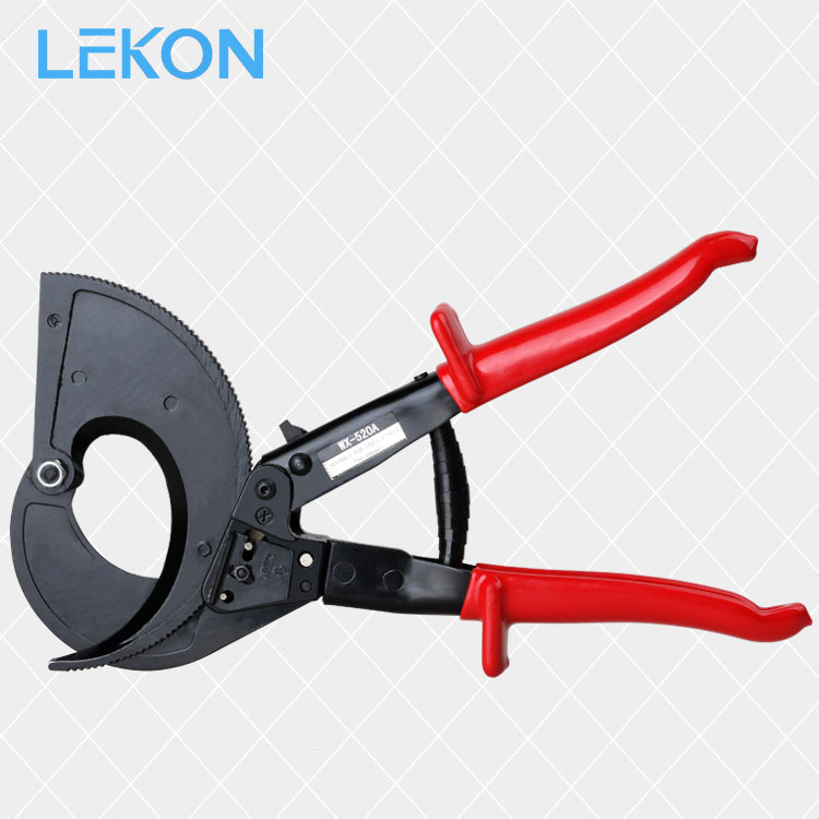 Lekon Card Ratchet Wheel-Cable Cutter WX-520 Cable Cutter Cable Bolt Cutters