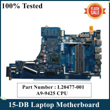 CPU Laptop Motherboard LA-G078P L20477-601 DDR4 for HP 15-DB with A9-9425 Am9425/Cpu/Epv51/..