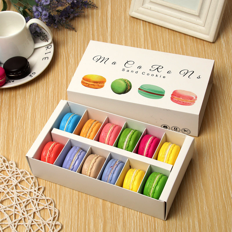 6/12macarons Rectangle Chocolate <font><b>Big</b></font> Capacity Small Pastry Macaron <font><b>Packaging</b></font> <font><b>Box</b></font> Baking Decoration <font><b>Gift</b></font> <font><b>Box</b></font> Party Supplies image