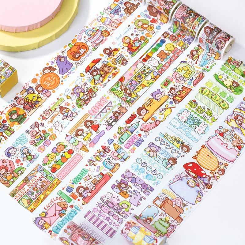 6pcs/lot capricorn series cute fresh decorative paper masking washi tape(China)