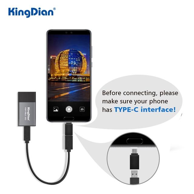 KingDian External SSD 120gb 250gb 500gb 1tb 2tb Hard Drive USB 3.0 Type C For Laptop 4