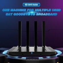 Cioswi we2805ac 4g lte roteador 1200mbps 4g roteador sem fio modem 1wan + 2lan sim cards slot solução sem fio cat4 banda dupla wifi