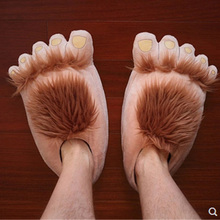 Paw Slippers Shoes Man Bigfoot Faux-Fur Designer Creative Unisex Warm Indoor Chunky Size-36-45