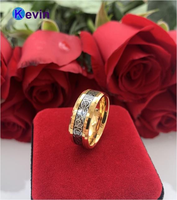 Женские и мужские золотые вольфрамовые свадебные ленты с черной