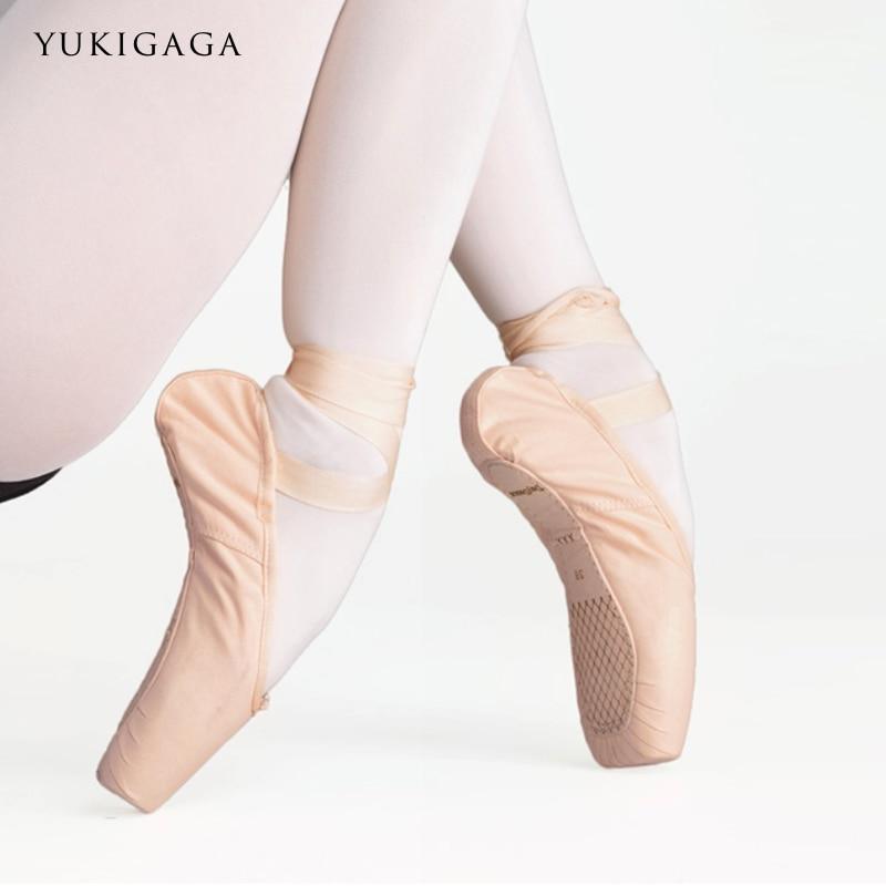 Kids Ballet Shoes Satin Full-sole Beginner Ballet Dance Slippers For Girls Children Pink/Black/Gold/Red NO.4S