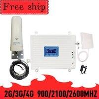 900/2100/2600 gsm 2g wcdma 3g lte dcs 4g impulsionador de sinal 900/2100/2600 mhz telefone celular 2g 3g 4g repetidor celular impulsionador