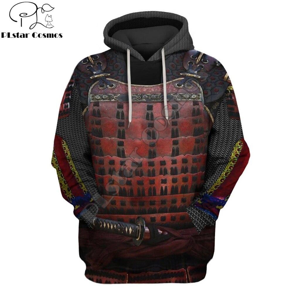 Cosplay Fashion Men Hoodie The Last Samurai armor 3D Printed Harajuku Sweatshirt Unisex Casual Pullover sudadera hombre KJ078