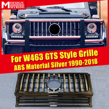 W463 GT Grills Fit For MercedesMB G Class G500 G550 Sports Front Grille 1:1 Replacement ABS Silver Without sign 1990-2018