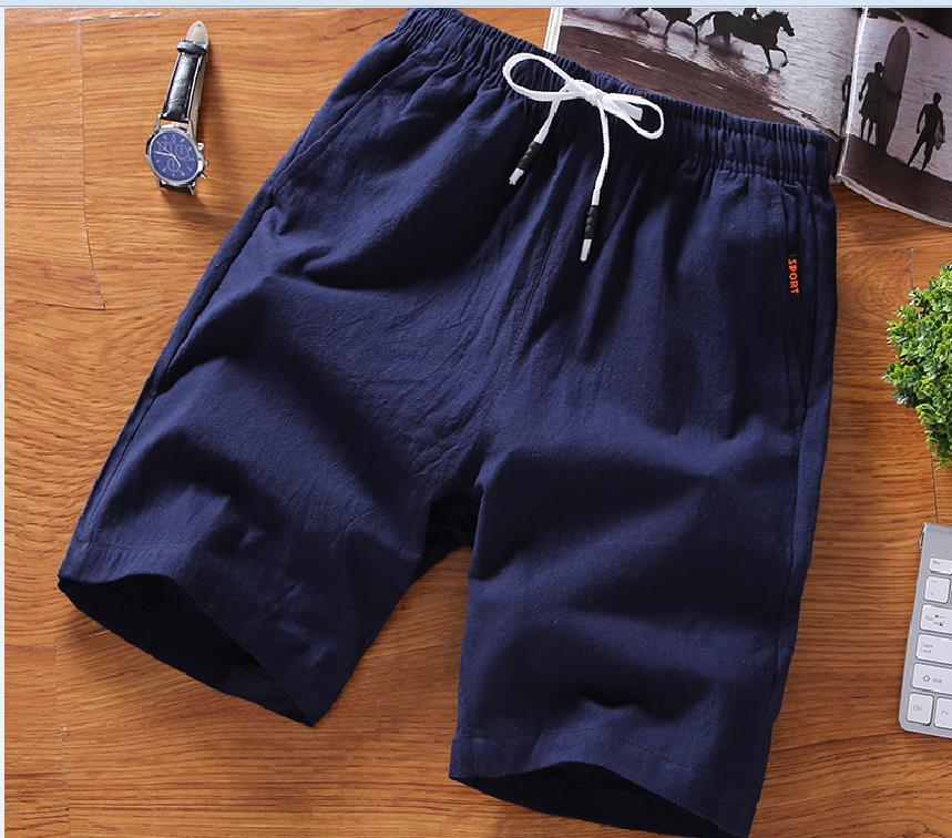 Large Size Shorts Men's Summer Korean-style Trend Sports Casual Pure Cotton Loose-Fit Running Shorts Fashion Shorts Beach Shorts