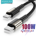 KUULAA 100W USB C to USB Type C Cable USBC PD 5A Fast Charger Cord USB-C Type-c Cable for Samsung S20 MacBook iPad Huawei Xiaomi