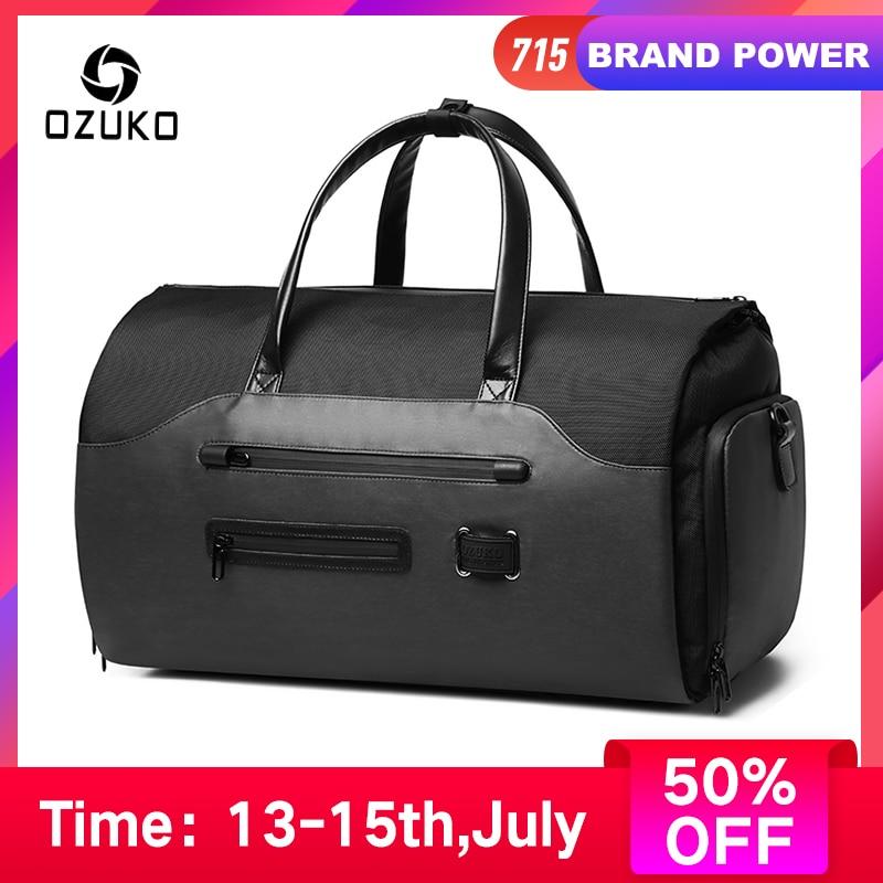 OZUKO Luggage Handbag Suit Duffel-Bag Shoes-Pocket Storage Travel Multifunction Large-Capacity