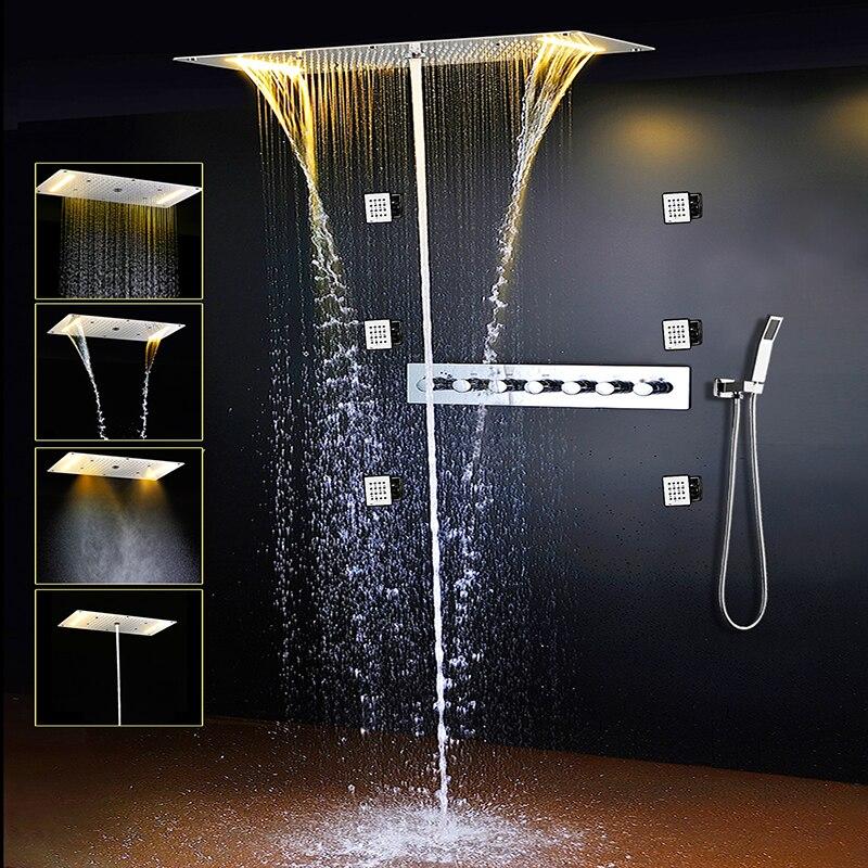 Bathroom Shower Set LED Ceiling ...