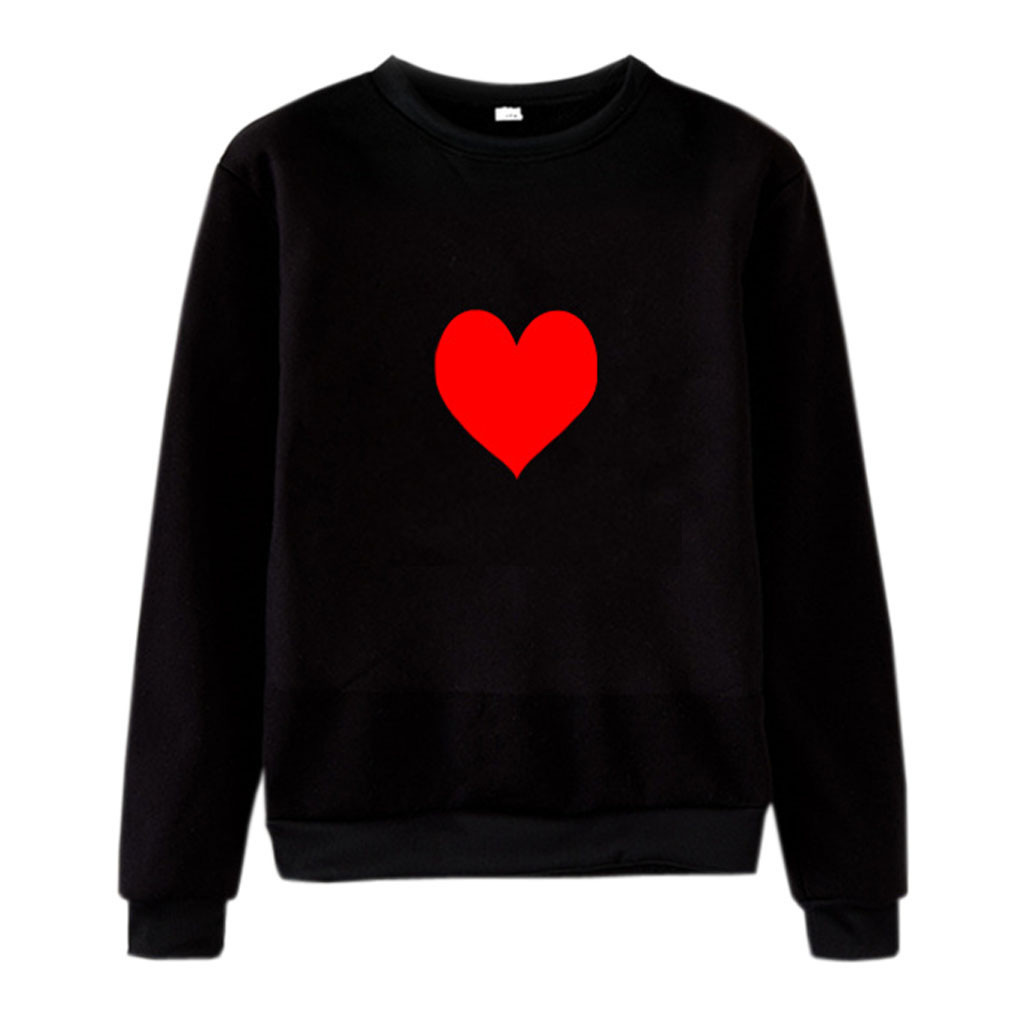 Oversized Hoodies Unisex Men Women Autumn 2020 Streetwear Casual Heart Printed Sweatshirt Hoodies Pullover Women udadera Mujer