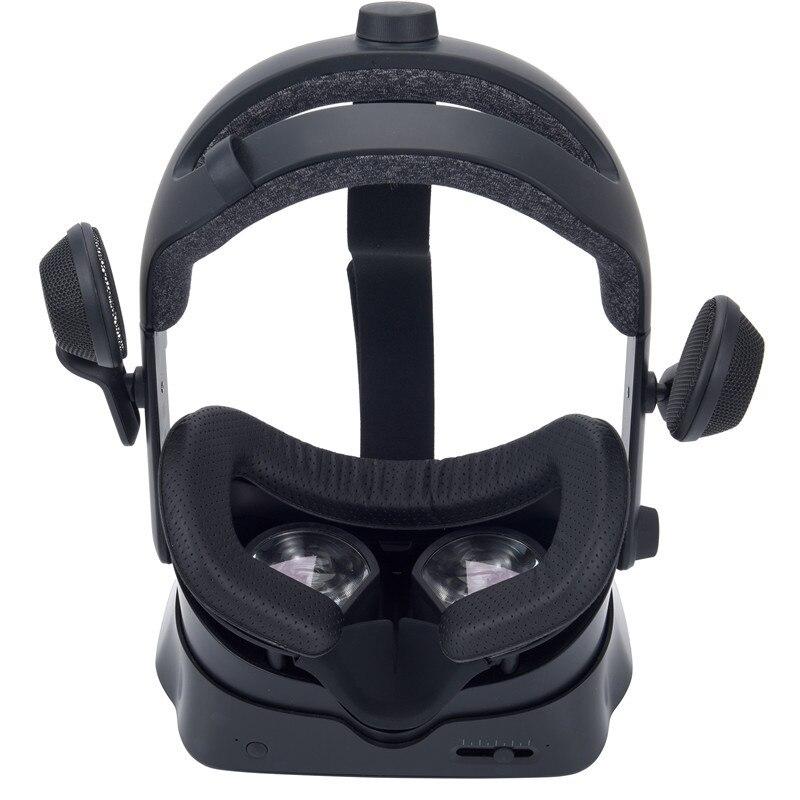 Mascarilla ancha con índice de válvula para ojos, de cuero, succión magnética, a prueba de fugas, ligera, para nariz, cómoda, transpirable, fácil de instalar