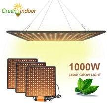 Indoor led 1000w 3500k crescer painel de luz espectro completo phyto lâmpada para flores lâmpada para plantas branco quente leds fitoamp crescer tenda