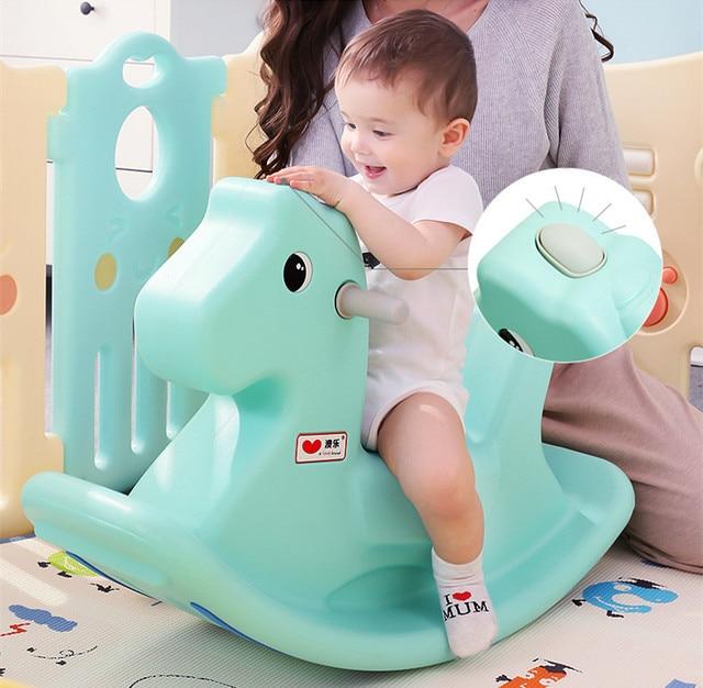Baby Child Animal Rocking Horse Multifunction Rocking Chair Trojan Toy Baby Game Baby Walker Indoor Girl Gift 5