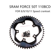 цена на SRAM FORCE CX1 50T 110BCD Chainring  8/9/10/11 Speed  X-SYNC Narrow Wide chainring come with 5 Nails With screws Single Disc