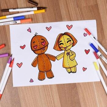 120 Kleuren Dual Tip Borstel Marker Pennen Fineliner Aquarel Art Markers Kalligrafie Kleurplaten Tekening Art Supplies Met Marker Pad