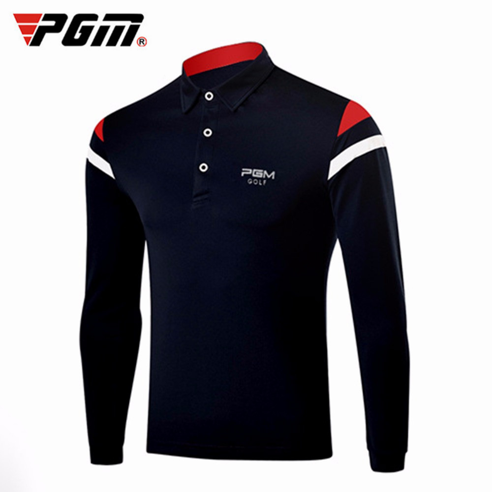 PGM Golf Shirts Men Autumn Winter Golf Apparel Shirt Long Sleeve T shirt Sports Table Tennis Shirt Comfort Male Jerseys Tshirts