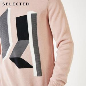 Image 4 - SELECTED 남성 모직 o 넥 컬러 스웨터 옷 긴팔 스웨터 니트 S