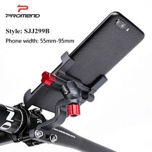 Image 4 - Promend אלומיניום סגסוגת אופני טלפון נייד מחזיק מתכוונן אופניים טלפון מחזיק החלקה MTB טלפון Stand רכיבה על אופניים אבזרים
