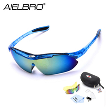 AIELBRO Cycling Sun Glasses Outdoor Sports Bicycle Glasses Men Women Bike