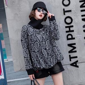 Image 3 - Max LuLu 2019, модная Корейская зимняя одежда, женские свободные топы, футболки, женские трикотажные футболки с принтом, повседневная водолазка, теплая одежда