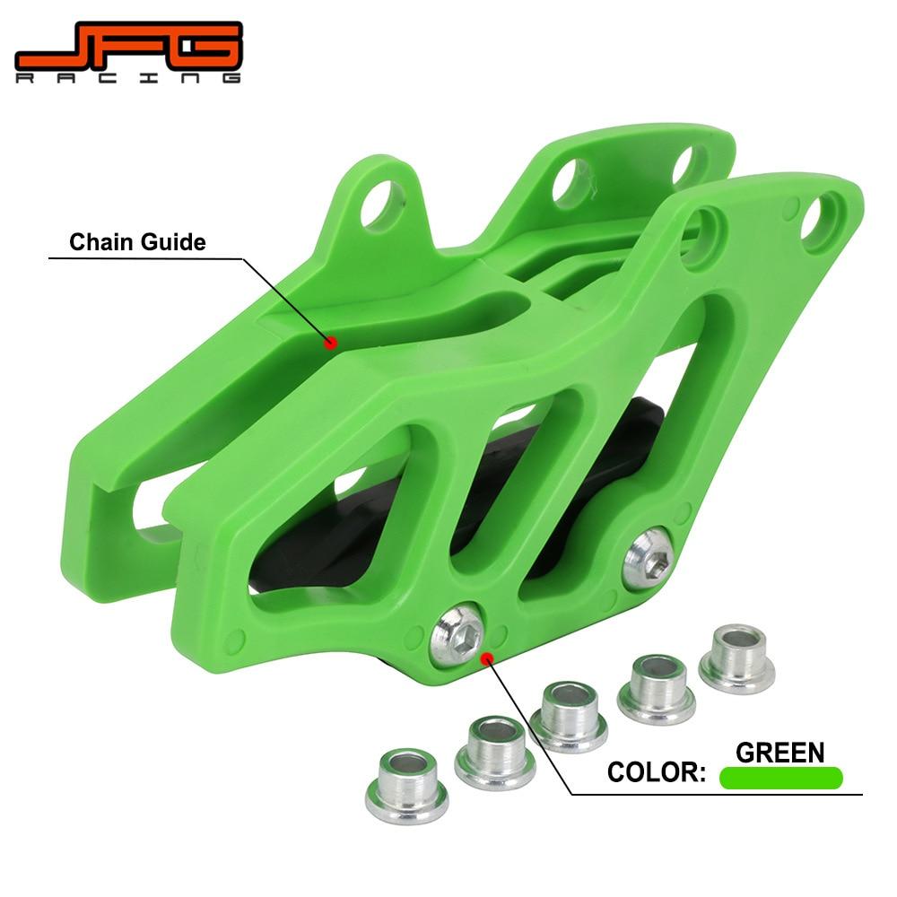 JFG RACING CNC Rear Chain Guide Guard Green For Kawasaki KX250F KX450F 2009-2016