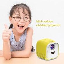 Домашний мини-проектор 480X320 P поддержка 1080P AV USB TF карта HDMI интерфейс для детей, Обучающие Светодиодные проекторы