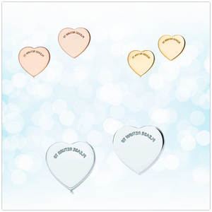 Ladies Earrings Sterling-Silver Jewelry 925 Fashion Gift Classic Heart Holiday