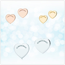 Sterling silver 925 classic fashion silver heart shaped ladies earrings jewelry holiday gift