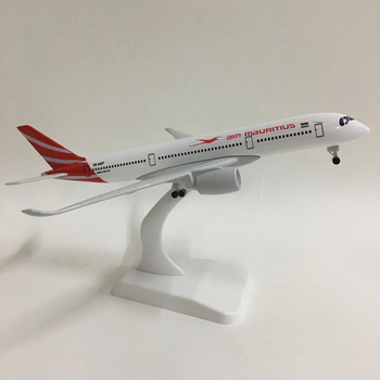 JASON TUTU 20cm Plane 1:300 Diecast metal plane model toy Mauritius airplane model airbus 350 aircraft model for assembly цена 2017