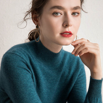 Осенне-зимние мягкие свитера для женщин, 100% чистый кашемир, вязаные Джемперы, 10 цветов, стандартная одежда с длинным рукавом, женские пулове...