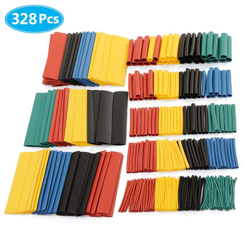 127/328/530PCS/Set Heat Shrink Tubing Electrical Wrap Wire Cable Sleeves PE 2:1 Insulated Sleeving Assorted