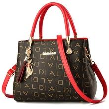 PU leather Women's Bags Luxury Shoulder Messenger Bag Crossbody For Women big capacity letter printing wild Ladies bags