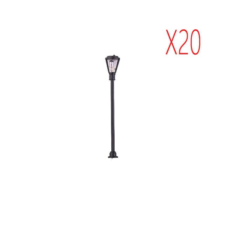 20 sztuk Model lampy uliczne LED oświetlenie pojedyncze głowy data data powrotu (układ krajobraz 1: 100